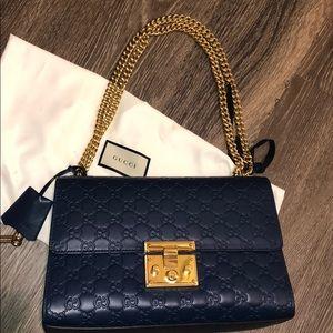 Handbags - Gucci Medium Padlock Leather Shoulder Bag